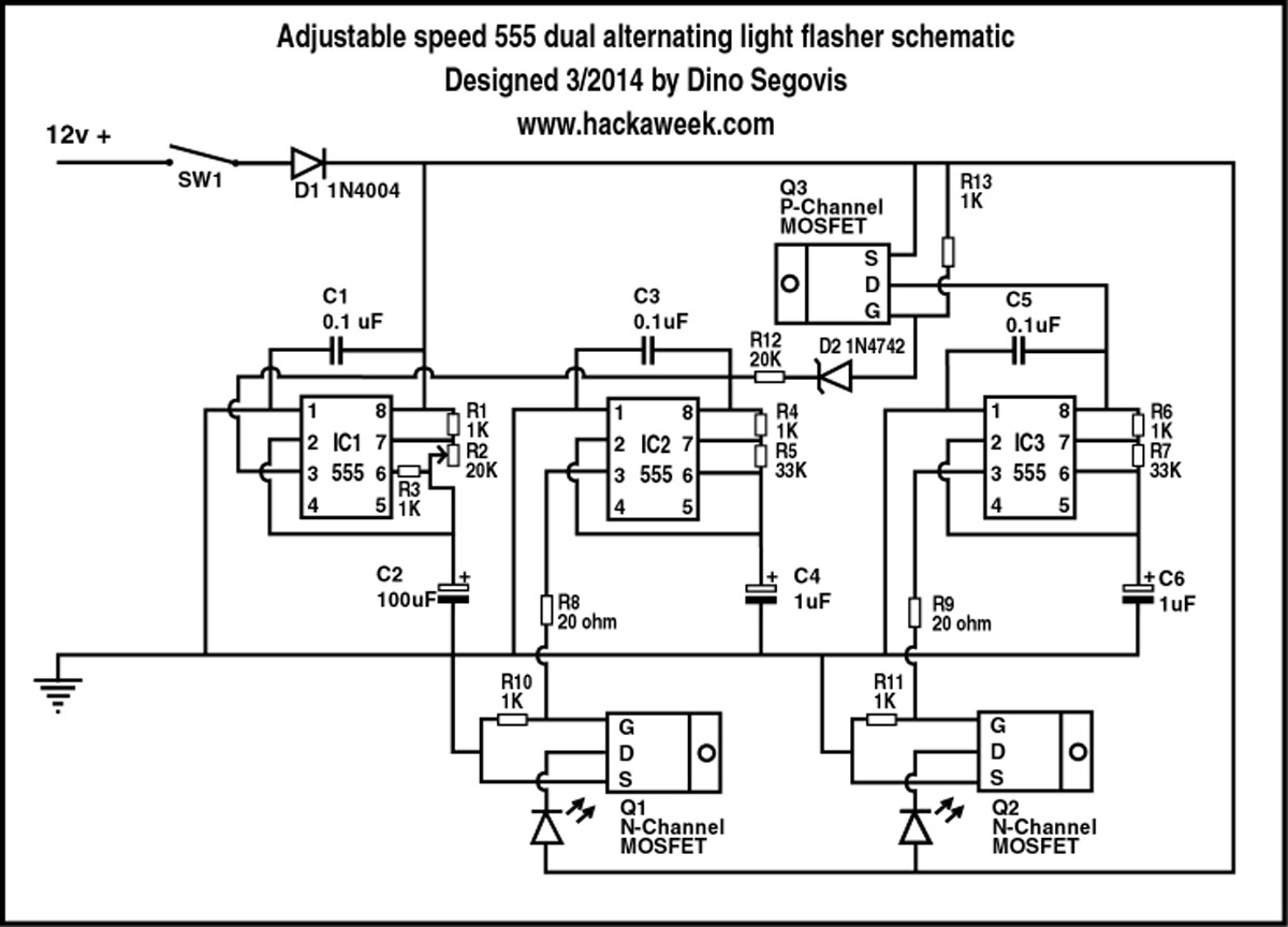 Wrg 5568 Alternating Flasher Wiring Diagram