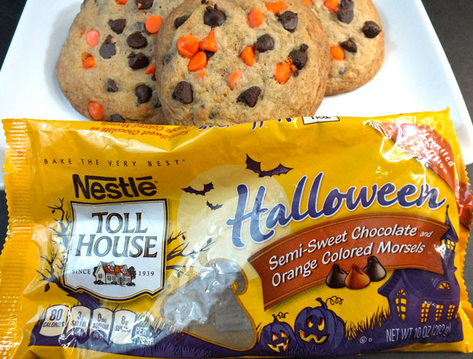 Halloween Chocolate Chip Cookies - Two Sisters