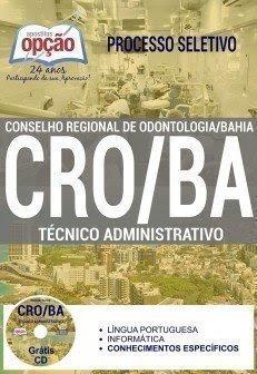 Apostila para o concurso CRO/BA Técnico Administrativo.
