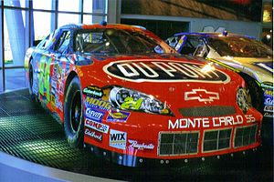 English: Jeff Gordon's car on display at Hendr...