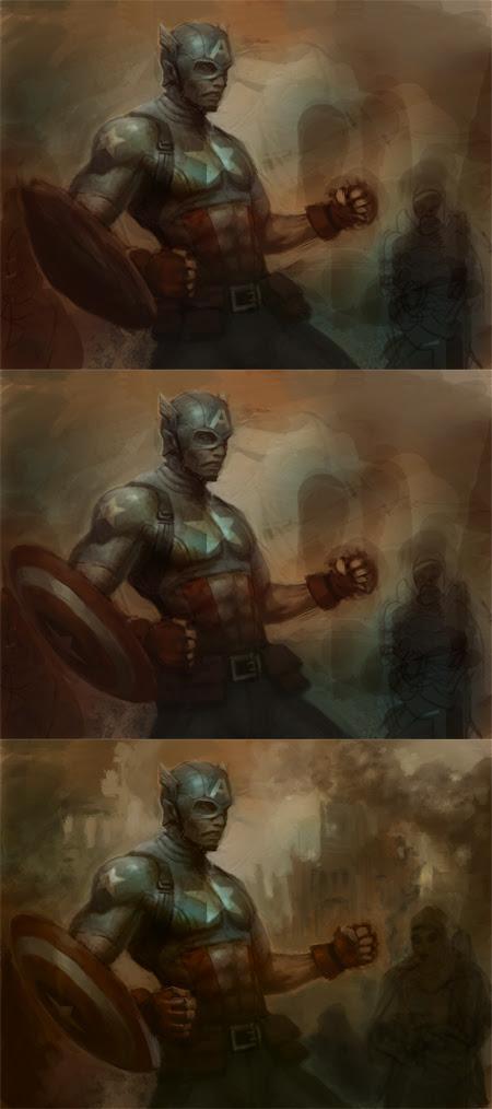 digital art tutorial superhero