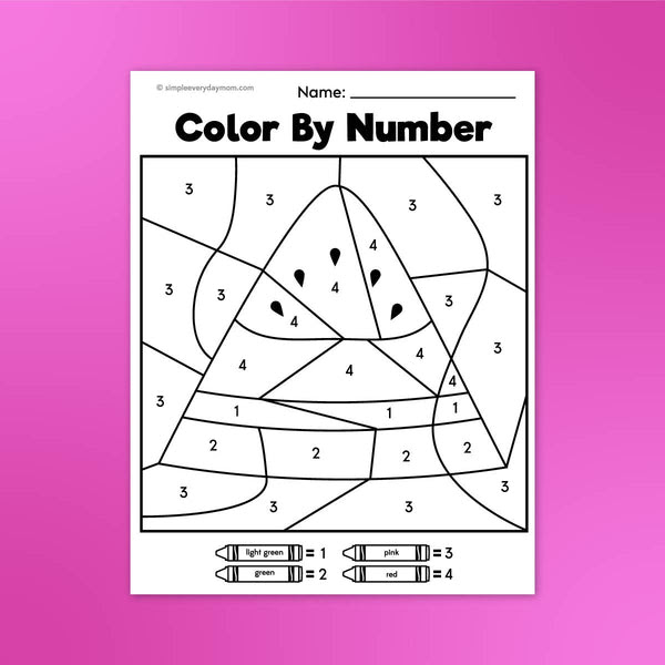 Summer Color By Number Printables - Simple Everyday Mom