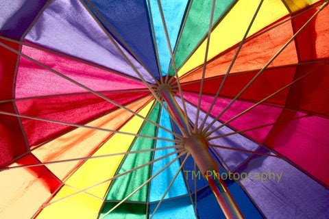 Umbrella - Rainbow - Summer - Colors - Summer Photography - City Market - Colorful - turquoisemoon