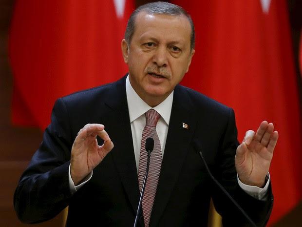 Recep Tayyip Erdogan, presidente da Turquia, fala em discurso em Ancara. (Foto: Umit Bektas/Reuters)