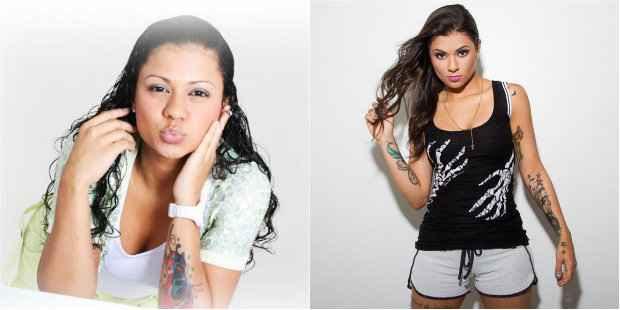 Antes e depois da MC Marcelly: funkeira mudou estilo de vida e emagreceu 11kg para enfrentar a rotina de shows. Foto: Reprodução/Facebook