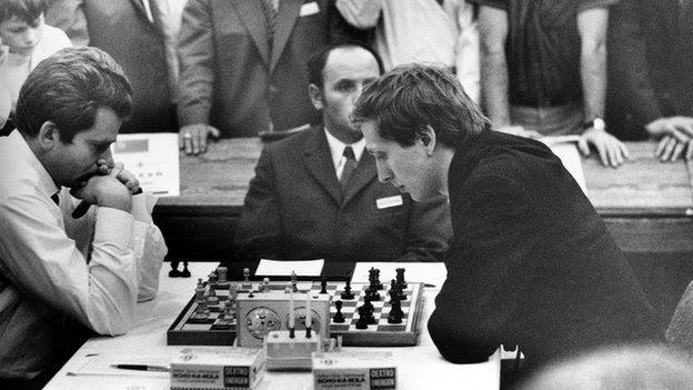 Bobby Fischer playing Boris Spassky, 1970