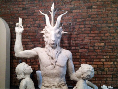 """The goal of the Satanic Temple: Luring children into the dark world of black magick claiming its a """"harmless poke a Christianity""""."""
