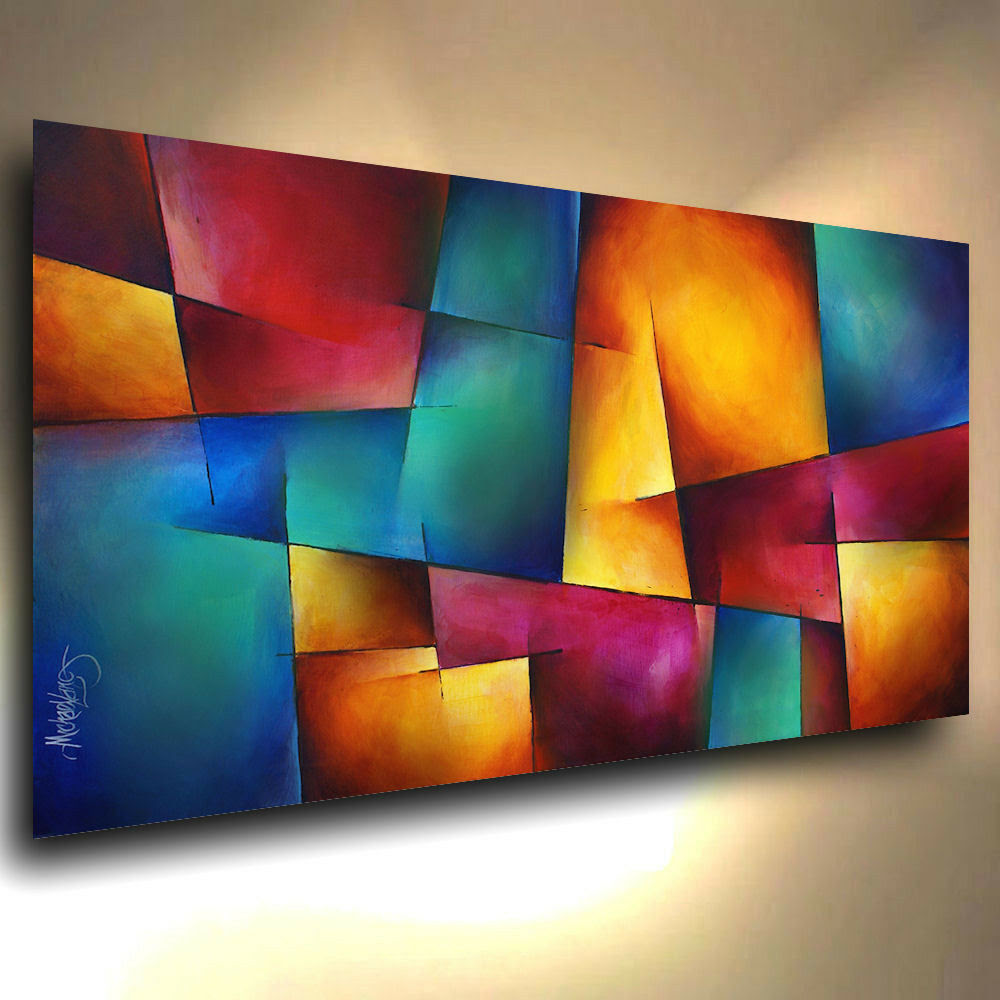 Modern Abstract Art CONTEMPORARY Giclee Canvas Print of a ...