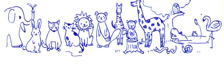 Mdノートに描いてみたよ 森の動物たち 水彩色鉛筆画家 tomoko