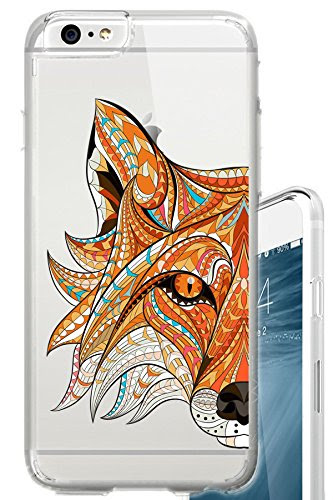 Iphone 6s Case Tribal Fox Face Aztec Ethnic Fashion Tattoo Clear