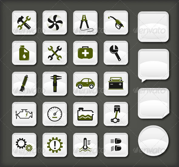 13 Icons For Automotive Industry Images - Car Auto Repair ...