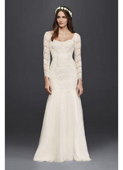 Long Sleeve Lace Mermaid Wedding Dress   David's Bridal