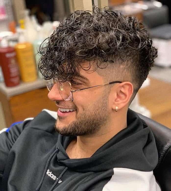 Mens Haircuts Short Sides Long Curly Top Bpatello