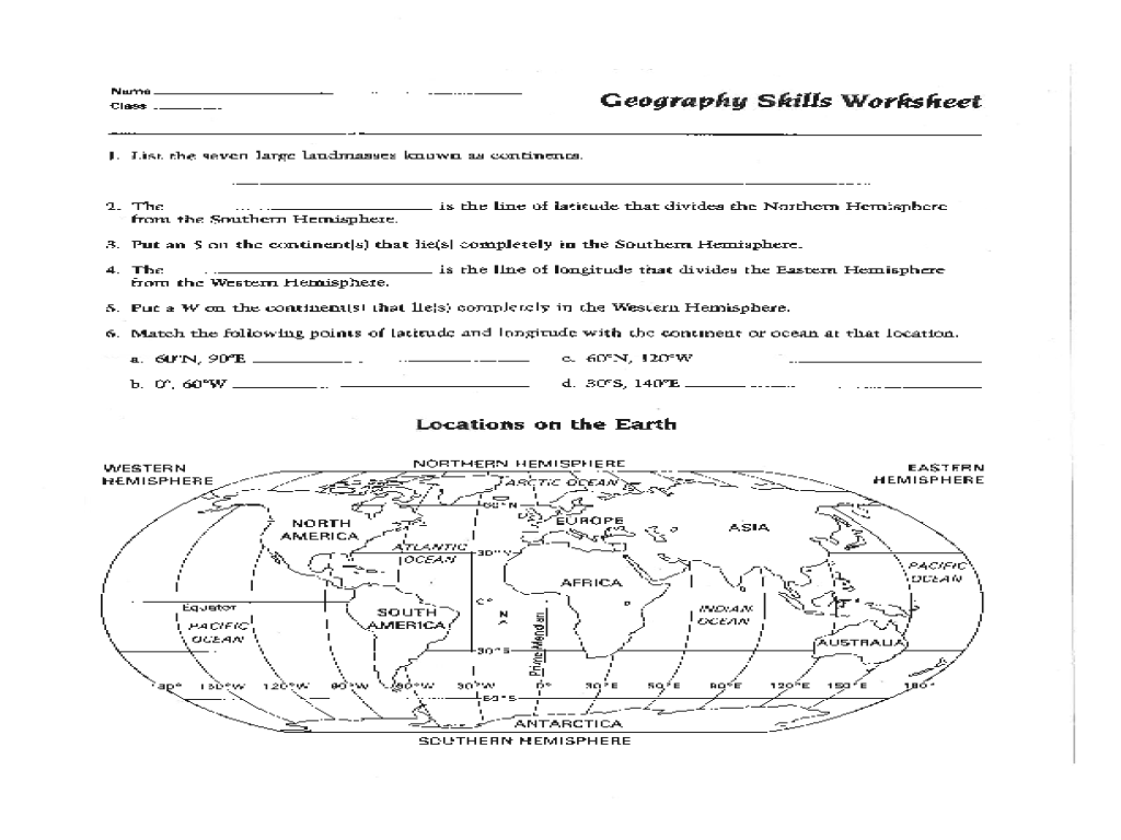 geography worksheet: NEW 677 GEOGRAPHY WORKSHEETS 3RD GRADE