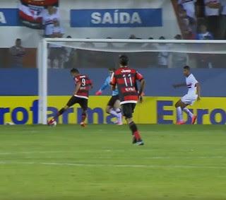 São Paulo Flamengo Copinha (Foto: Reprodução SporTV)