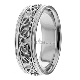 Celtic Knot 14K Gold Wedding Bands Rings 8mm Mens Women