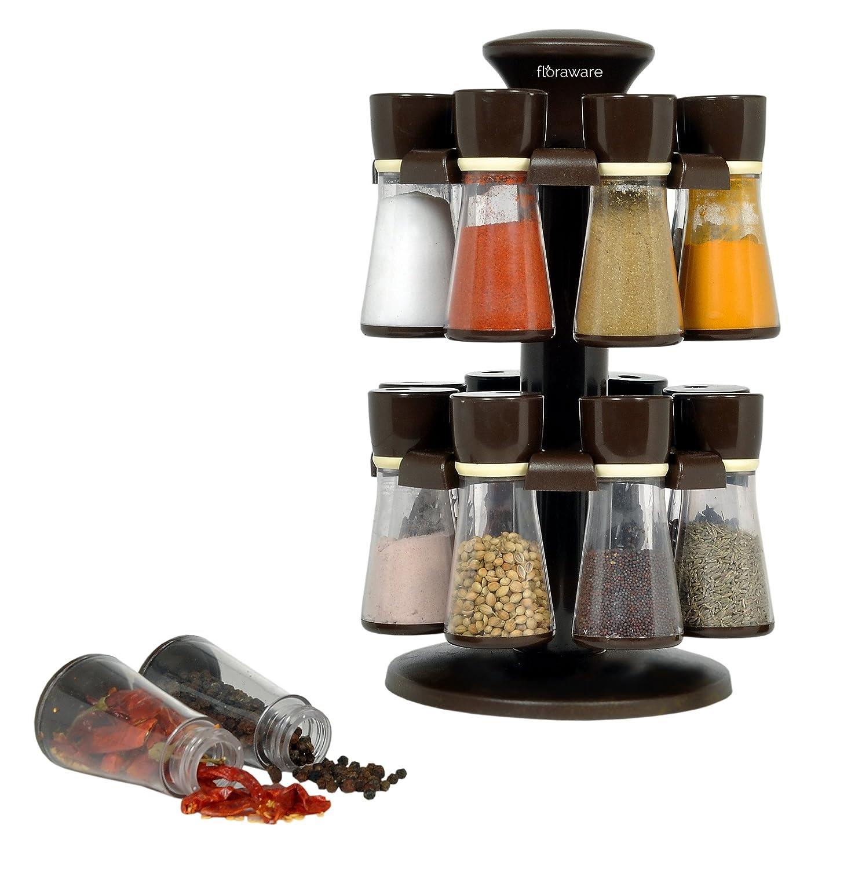 Deals on Floraware 16-Jar Revolving Spice Rack Masala Box