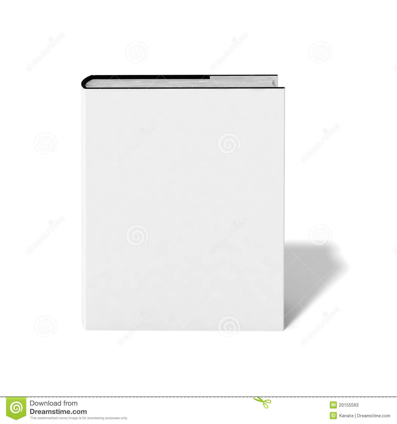 Blank Book With White Cover Stock Photos - Image: 20155593