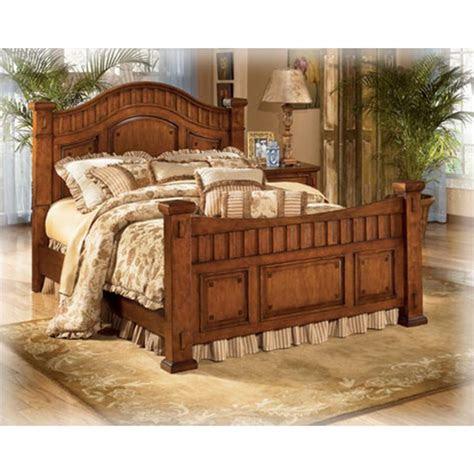 ashley furniture cross island bedroom queen poster bed