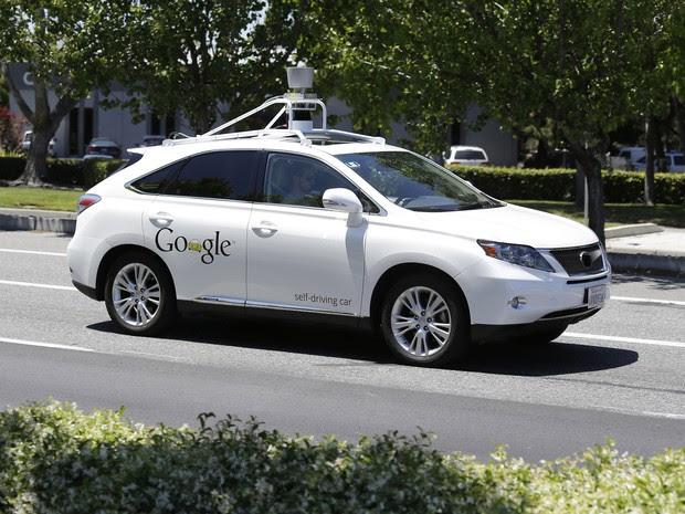 Carro autônomo do Google em foto de 13/05/2014 (Foto: Eric Risberg/AP)