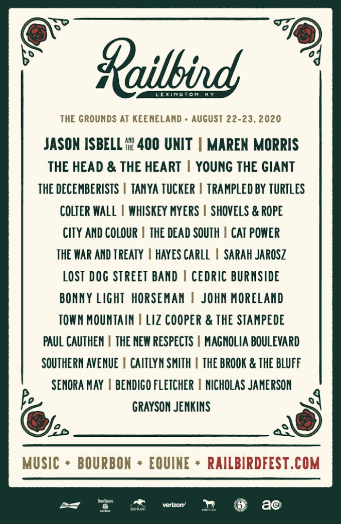 Railbird Festival Sets 2020 Lineup: Jason Isbell & The 400 Unit, Maren Morris, The Head & The Heart and More