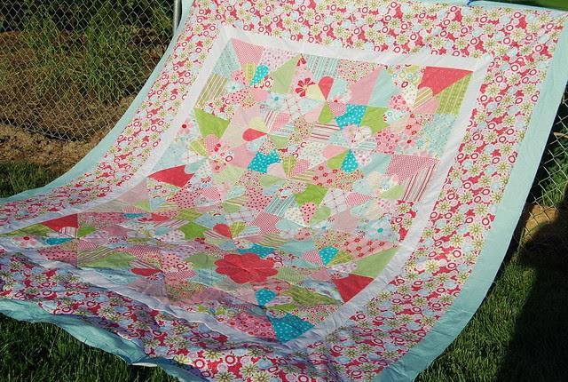 Niece's giant quilt top