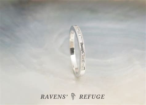 platinum baguette diamond ring ? dainty wedding band