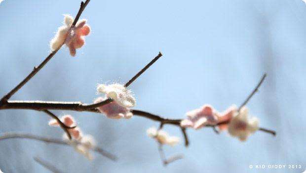 DIY Cherry Blossom Tree Craft Felted Flowers by Kid Giddy photo DIYCherryBlossomTreeByKidGiddy8_zpsb9cd4052.jpg