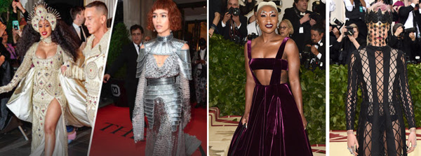 met gala celebrities dressed in mock religious attire