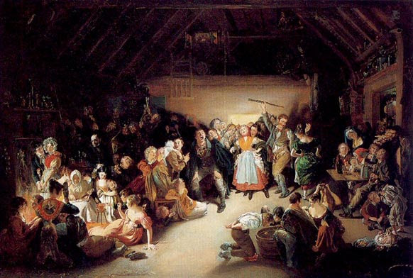 Painting of a Halloween party in Ireland