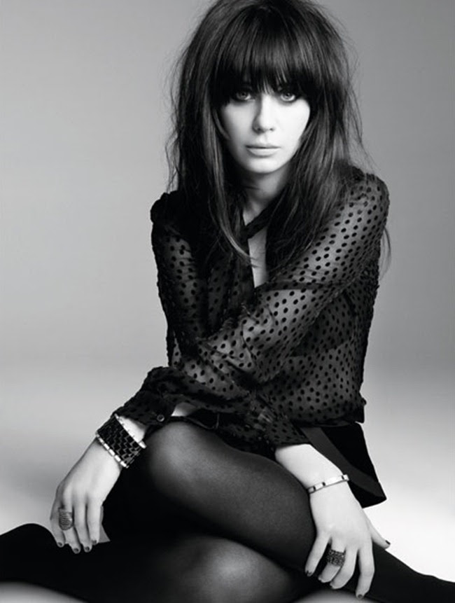 Marie Claire Magazine Zooey Deschanel By Photographer Tesh Image