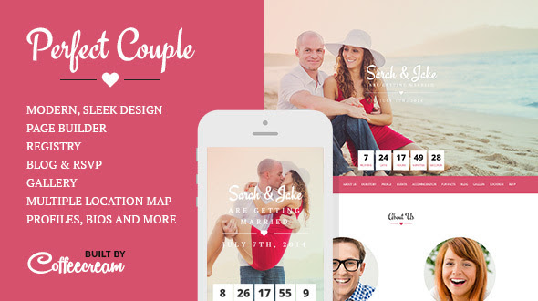 Perfect Couple Wordpress Theme Rating Reviews Preview Demo