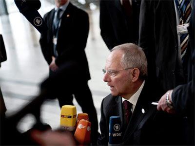 Wolfgang Schäuble, este viernes. EFE