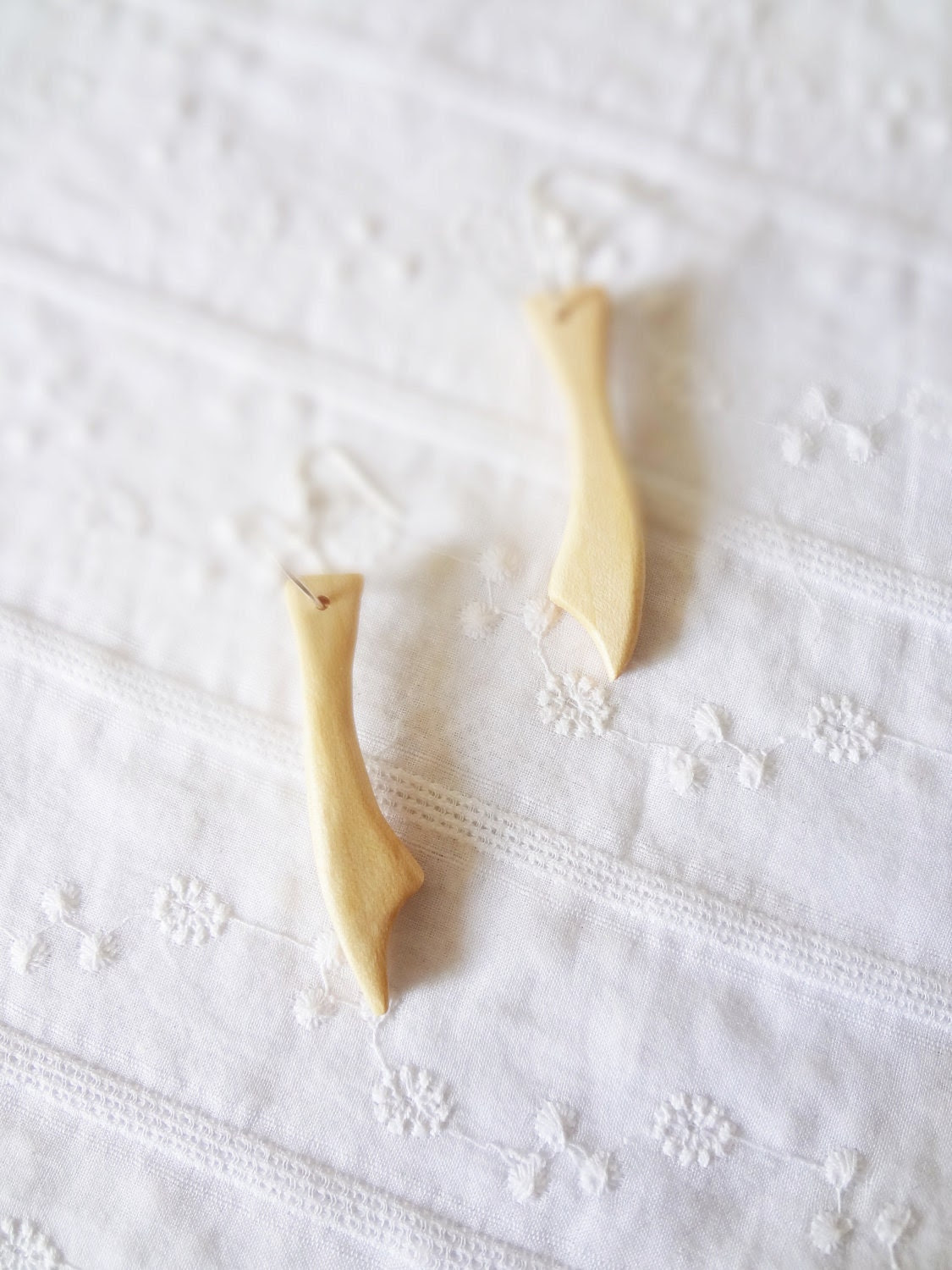 white night- maple wood french rustic tribal earrings - thefrenchboheme