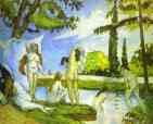 Paul Cézanne.  Seis Mulheres que banham.