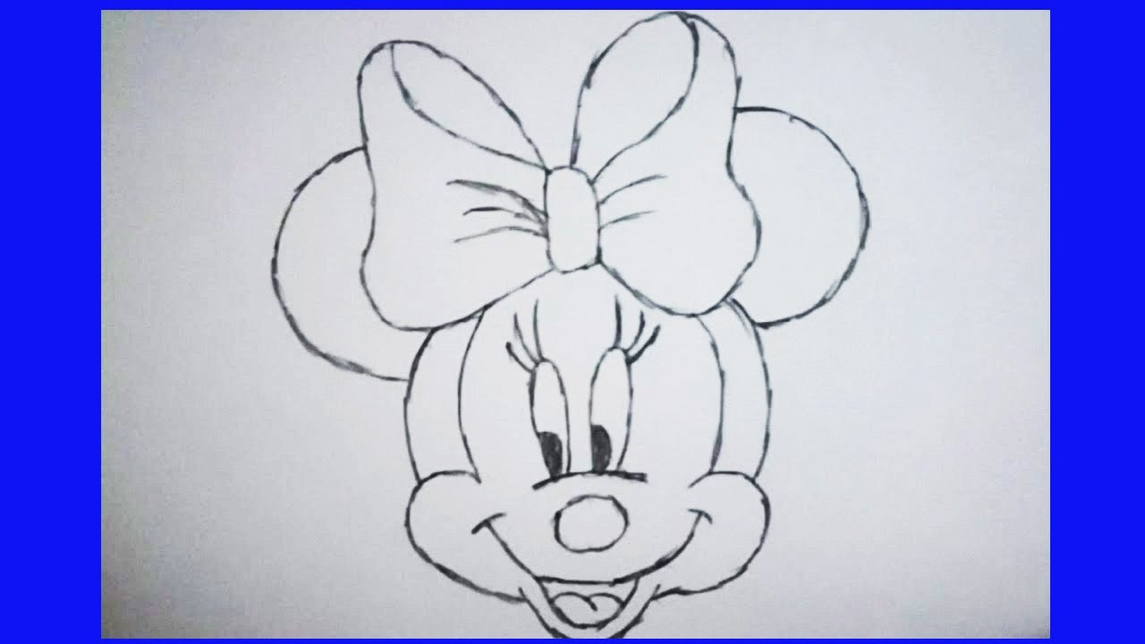 Minnie Mouse Face Drawing At Getdrawingscom Free For Personal Use
