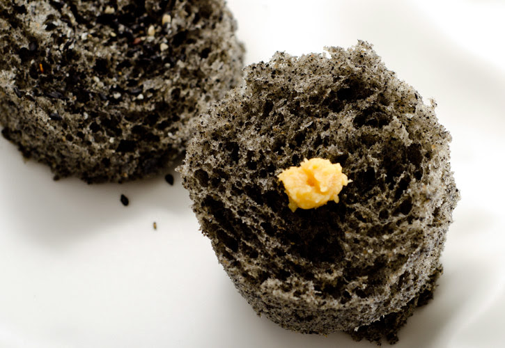 Black Sesame Microwave Sponge Cake and Miso | Molecular ...