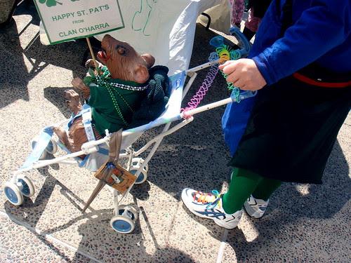 St. Patrick's Day stroller