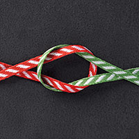 Real Red & Garden Green 1/8 (3.2 mm) Striped Ribbon by Stampin' Up!