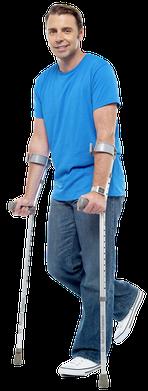Muletas canadenses para fraturas do quadril e doenças no quadril, artrose