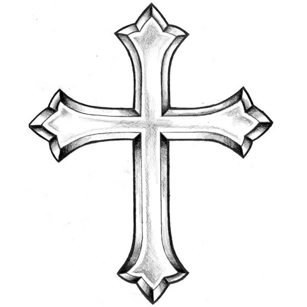 Black And White Cross Tattoos - Cliparts.co