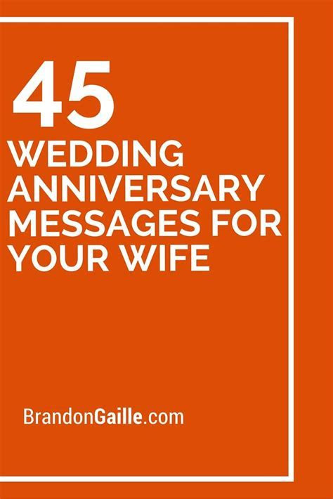 45 Wedding Anniversary Messages for Your Wife   Wedding