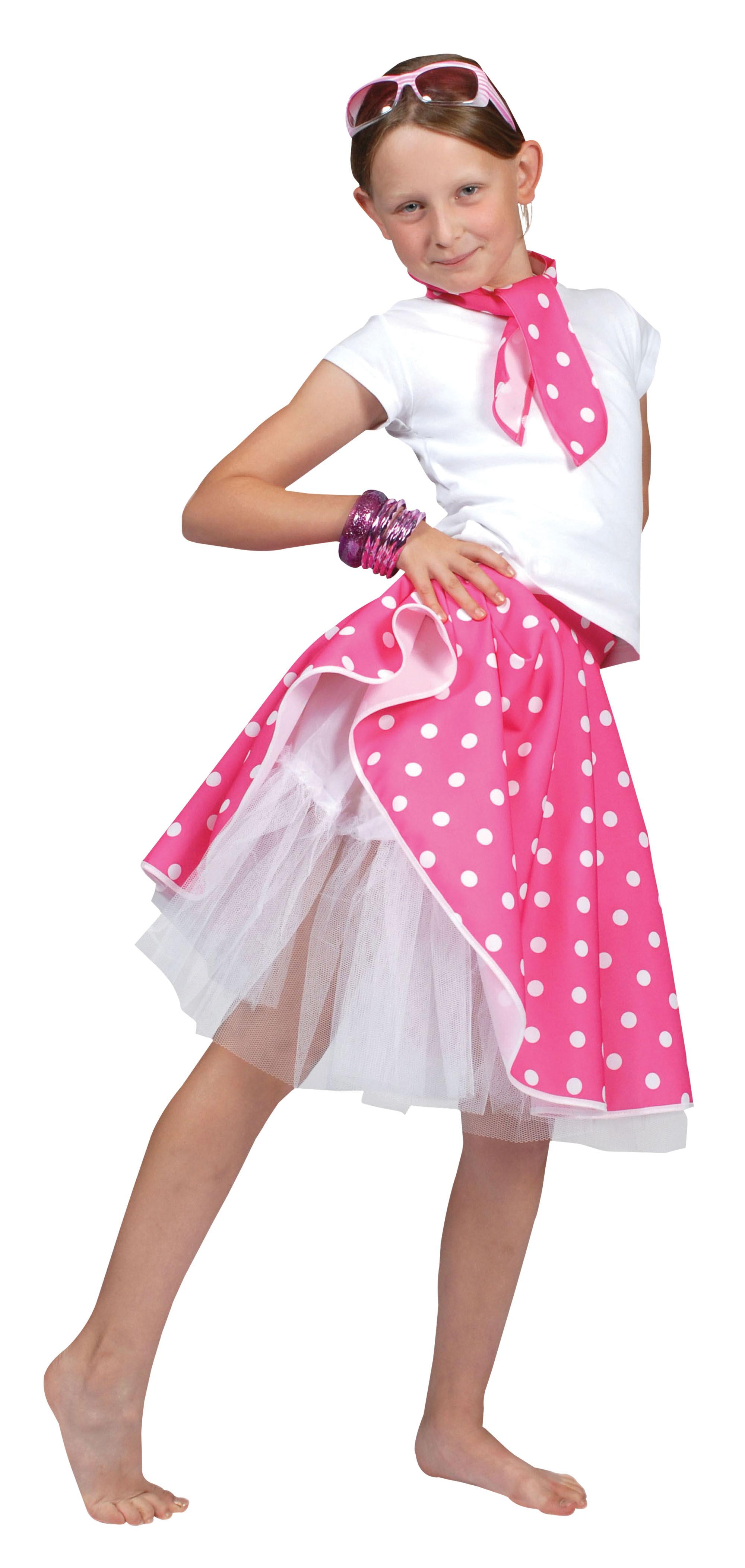rock n roll skirt pink  glitz fancy dress