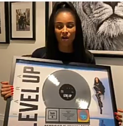 Ciara speaks about the power of faith in God and belief in self as she thanks her fans for making 'Level Up' go Platinum