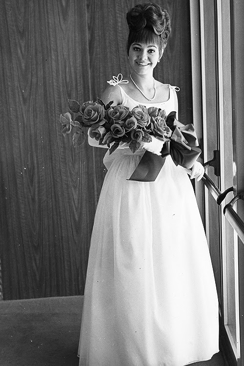 Sally Field at her senior prom, 1964.