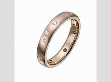 Rose Gold Wedding Ring with Scatter Set Diamonds   Christopher Duquet Fine Jewelry