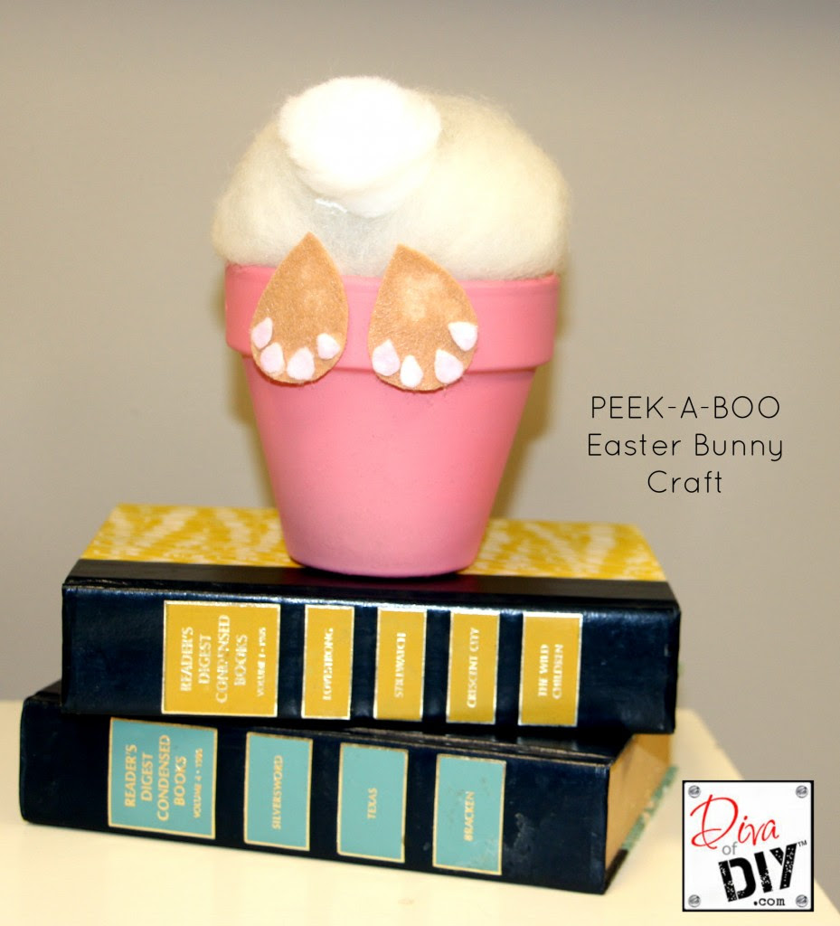 Peekaboo easter bunny craft