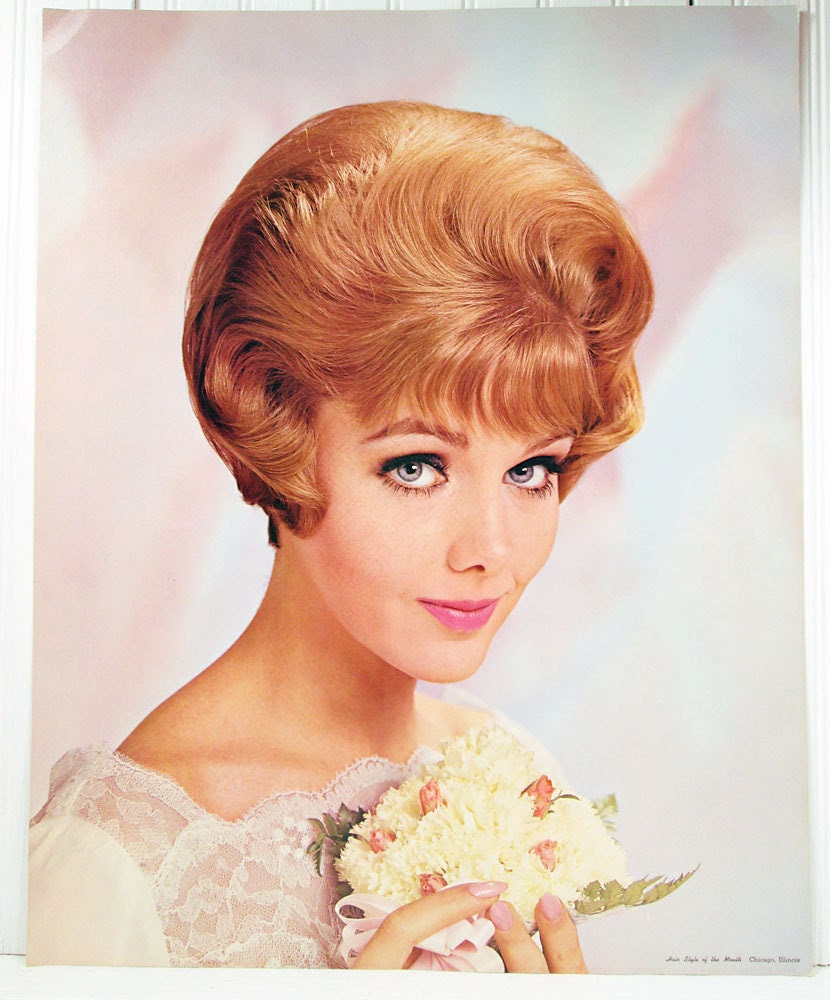 Vintage Bride Beauty Salon Poster Retro 1960s by ...