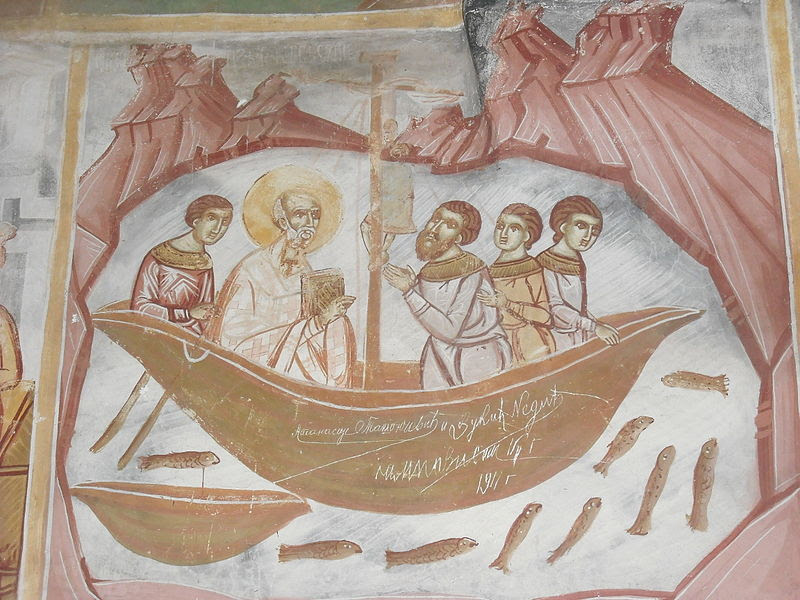 File:A fresco at St Nicholas of Shishevo - Matka (5).JPG