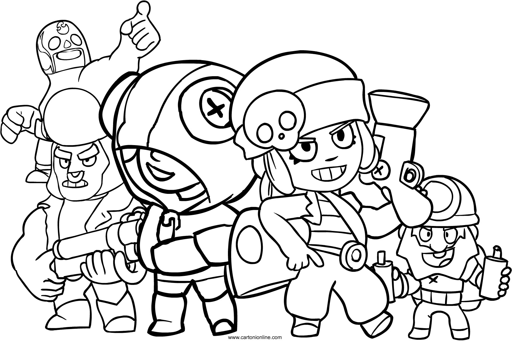 Coloriage Brawl Stars Color